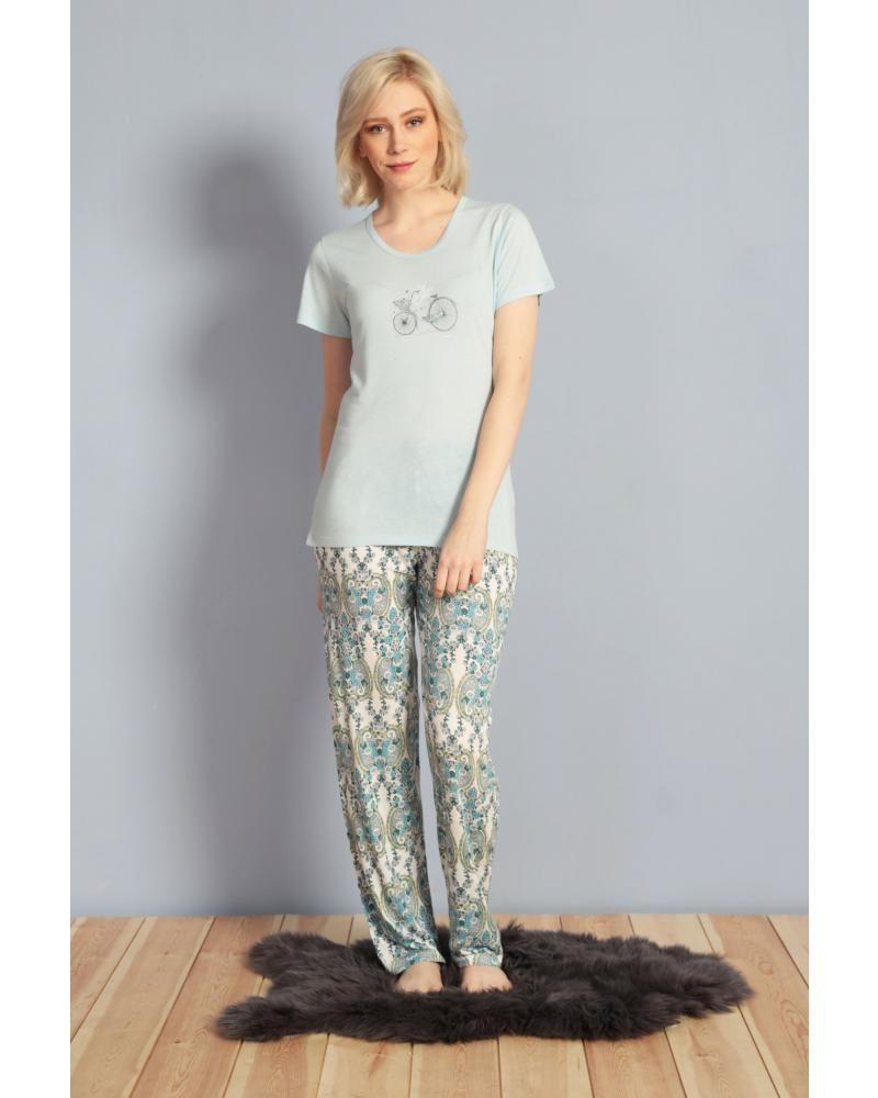 Купить Пижама женская Kezokino 610029 синий Kezokino Женская пижама ... f5db5e9da1a75