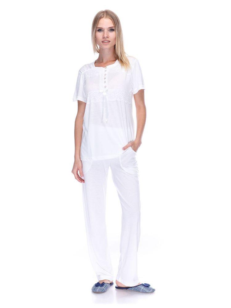 Купить Пижама женская Cosku 581 молочная Cosku Женская пижама 616 ... b16e10068c74d