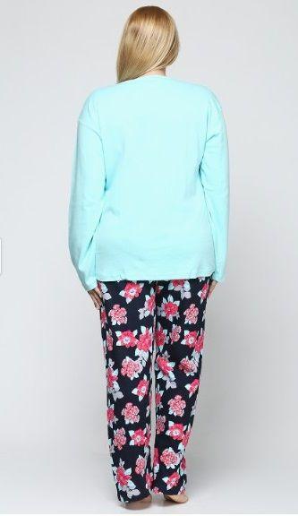 d2956c37f55f Купить Пижама женская больших размеров Estiva 16312 бирюзовый (16312 ...