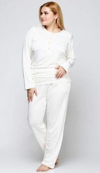 Купить Пижама женская больших размеров Meyra 2401 молочный Meyra ... 3922146b7dacf
