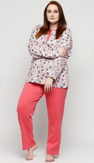Купити Піжама жіноча великих розмірів Estiva 17320 корал Estiva Жіночі  піжами 399 грн   Київ a4a82c7643ea9