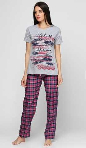 Купить Женская пижама Bambaska 1018 серый Bambaska Женская пижама ... 9122a55e9df96